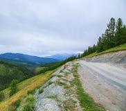 La valle della montagna nel giorno di estate si appanna Altai Fotografia Stock