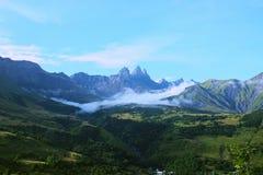 La valle di Arvan nelle alpi francesi Immagini Stock Libere da Diritti