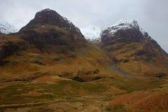 La valle di Glencoe Immagini Stock