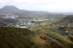 La valle di Haria, Lanzarote Fotografie Stock Libere da Diritti