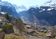 La valle di Lauterbrunnen Fotografia Stock Libera da Diritti