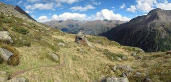 La valle di Oetztal Fotografia Stock
