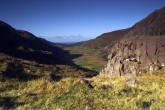 La valle di Ogwen Fotografia Stock