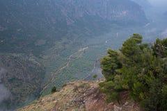 La valle di Parnassus Immagine Stock