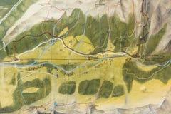 La valle di Ridnaun nel Tirolo del sud, Italia-può 27,2017: Mappa delle miniere in valle di Ridnaun Monteneve è il più alta minie immagine stock