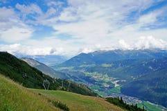 La valle di Stubai nel Tirolo Immagini Stock