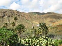 La valle di Vega de Rio Palmas su Fuerteventura Immagine Stock