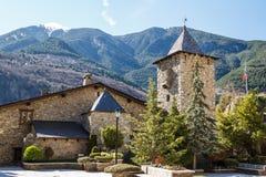 La Valle do de da casa na capital de Andorra fotografia de stock royalty free