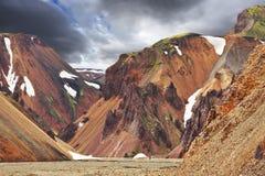 La valle famosa Landmannalaugar Fotografia Stock