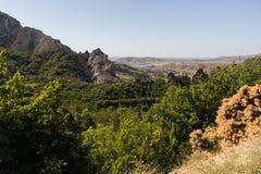 La valle nelle montagne Fotografia Stock Libera da Diritti