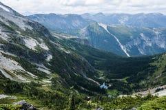 La valle qui sotto, Columbia Britannica Fotografie Stock Libere da Diritti