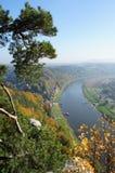 La valle superiore di Elba in Germania Immagini Stock Libere da Diritti