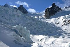 La Vallee Blanche Glacier Royalty Free Stock Photos