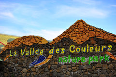La vallee DES-couleurs Eingang, Mauritius Stockfoto