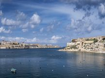 La valletta old town fortifications architecture scenic view in. La valletta famous old town fortifications architecture scenic view in malta Royalty Free Stock Image