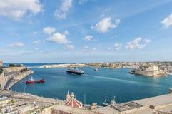 La Valletta Grand Harbour, Malta. La Valletta Grand Harbour as seen from Upper Baracca Gardens, Malta Royalty Free Stock Photos