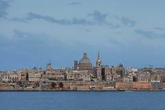 La Valletta i aftonen Royaltyfri Bild