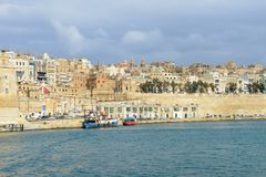 View at La Valletta, the capital city of Malta. La Valletta, Malta - 2 Novembre 2017: View of Valletta, the capital city of Malta Stock Images