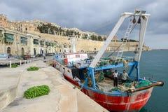 View at La Valletta, the capital city of Malta. La Valletta, Malta - 2 Novembre 2017: View of Valletta, the capital city of Malta Stock Photos