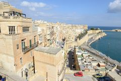 View at La Valletta, the capital city of Malta. La Valletta, Malta - 31 October 2017: View at La Valletta, the capital city of Malta Stock Images