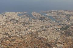 La Valletta, Malta from the sky. La Valletta, Malta as seen from the sky Royalty Free Stock Images