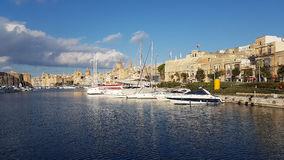 La Valletta Malta. La Valetta Malta Birgu Peninsula view Royalty Free Stock Photo