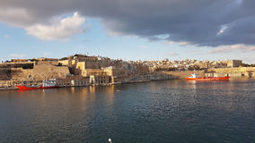 La Valletta Malta. La Valetta Grand Harbour view Royalty Free Stock Image