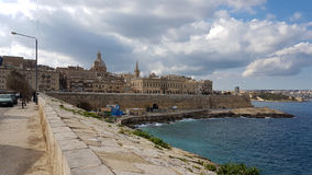 La Valletta Malta Waterfront. La Valetta Waterfront and Old City View Royalty Free Stock Photography