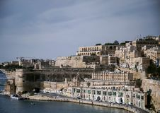 La valletta old town fortifications architecture scenic view in. La valletta famous old town fortifications architecture scenic view in malta Stock Image