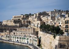 La valletta old town fortifications architecture scenic view in. La valletta famous old town fortifications architecture scenic view in malta Stock Photos