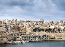 La valletta old town fortifications architecture scenic view in. La valletta famous old town fortifications architecture scenic view in malta Stock Photography