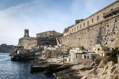 La valletta old town fortifications architecture scenic view in. La valletta famous old town fortifications architecture scenic view in malta Stock Photo