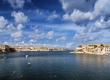 La valletta old town in malta. View of la valletta old town in malta Stock Photography