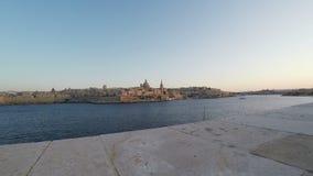La Valletta, vista panoramica, capitale, Repubblica di Malta, tempo reale, stock footage