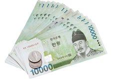 La valuta del Sud Corea Immagine Stock Libera da Diritti