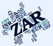 La valuta dello ZAR rappresenta il Sudafrica Rand And Banknotes Immagine Stock