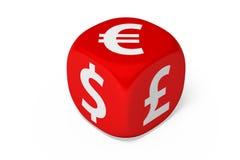 La valuta muore Immagini Stock Libere da Diritti