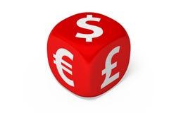 La valuta muore Immagine Stock