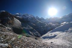 La van Thorung, Annapurna, Nepal Royalty-vrije Stock Foto's