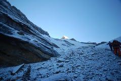 La van Thorung, Annapurna, Nepal Stock Afbeelding