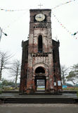 La Vang holy land, Quang Tri, Vietnam. QUANG TRI, VIET NAM- FEB 20, 2016: Old church at La Vang holy land with ancient red brick wall, a place for Christian Stock Image