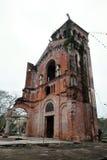 La Vang holy land, Quang Tri, Vietnam. QUANG TRI, VIET NAM- FEB 20, 2016: Old church at La Vang holy land with ancient red brick wall, a place for Christian Stock Photos