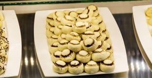 La vanille durcit dans une boutique de pâtisserie Image stock