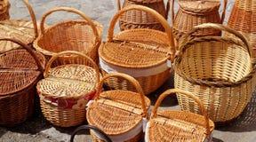 La vannerie traditionnelle handcraft en Espagne images libres de droits