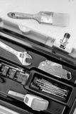 La varia famiglia foggia il pennello Toollbox monocromatico Fotografie Stock Libere da Diritti