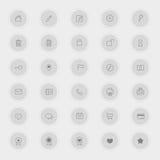 La varia raccolta dell'icona della tecnologia e di affari ha messo 1 (vettore) Fotografia Stock Libera da Diritti