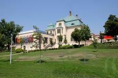 La vecchi fabbrica ed uffici di Zsolnay hanno convertito in nuovo centro di Zsolnay a Pecs Ungheria Fotografia Stock Libera da Diritti