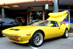La vecchia automobile sportiva Immagini Stock Libere da Diritti