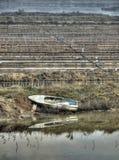 La vecchia barca Fotografia Stock