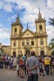 La vecchia basilica di Aparecida Immagini Stock